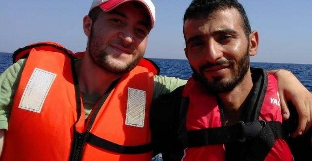 Cruzando de Turquía a Grecia. Fotografía: Caritas